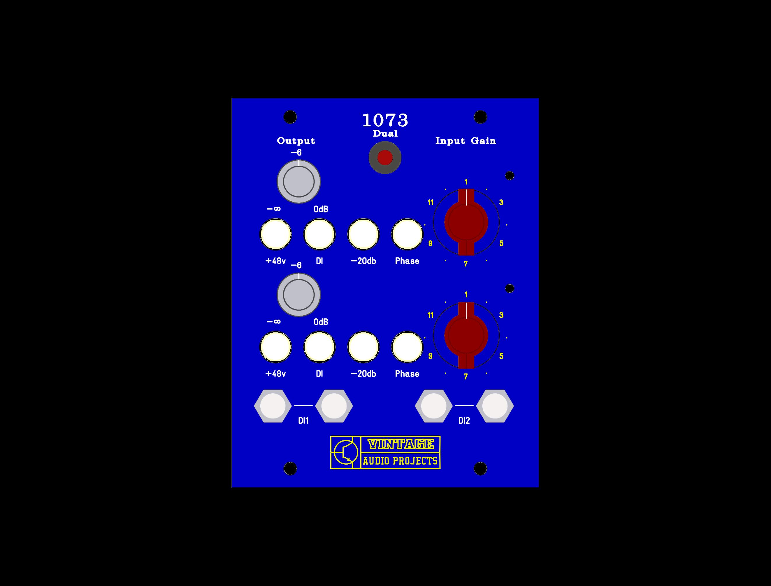 Dual 1073 preamps Desktop (build and tested) [VAP273-D